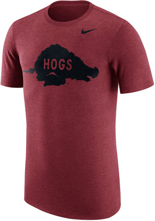 Nike Arkansas Razorbacks Mens Maroon Vault Fashion Tee