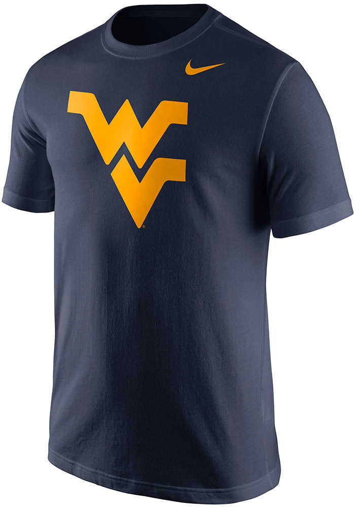 Nike West Virginia Mountaineers Navy Blue Logo Short Sleeve T Shirt - Image 1