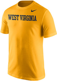 Nike West Virginia Mountaineers Gold Wordmark Tee
