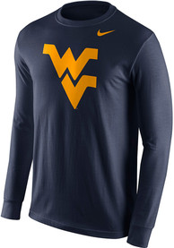 Nike West Virginia Mountaineers Navy Blue Logo Tee