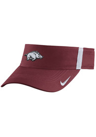 Arkansas Razorbacks Nike 2017 SIDELINE Adjustable Visor - Crimson