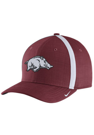 Nike Arkansas Razorbacks Mens Crimson 2017 SIDELINE Adjustable Hat