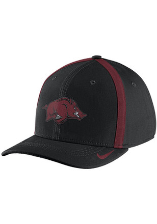 Nike Arkansas Razorbacks Mens Black 2017 SIDELINE Flex Hat