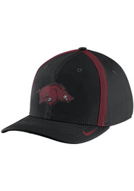 Arkansas Razorbacks Nike 2017 SIDELINE Flex Hat - Black