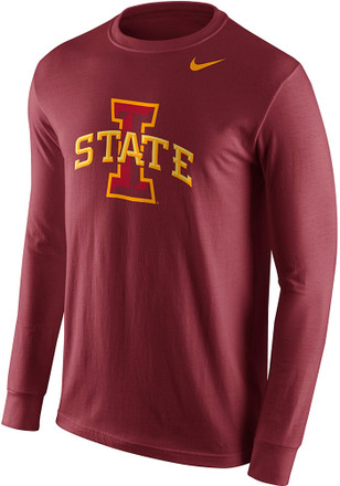 Nike Iowa State Cyclones Mens Crimson Logo Tee
