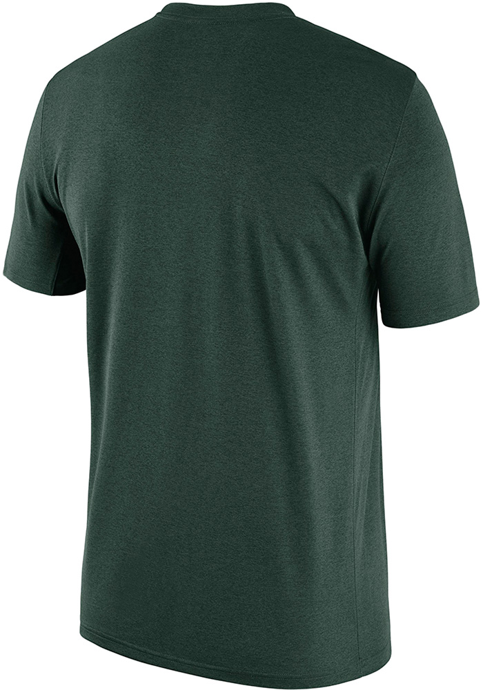 Nike Michigan State Spartans Green Legend Short Sleeve T Shirt - Image 2