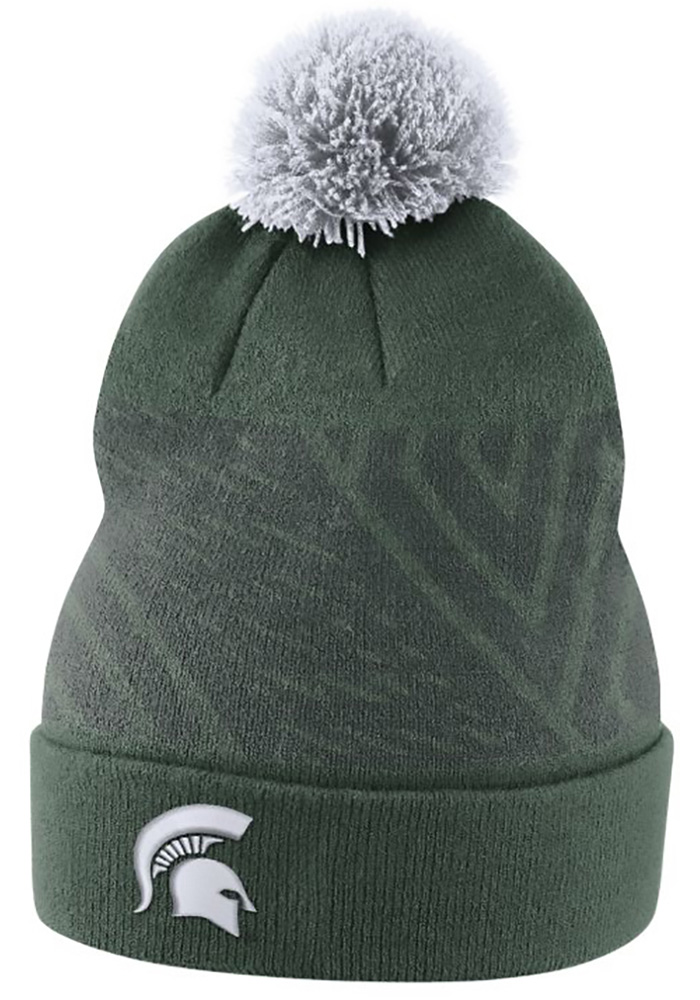 Nike Michigan State Spartans Green 2017 SIDELINE Mens Knit Hat - Image 1