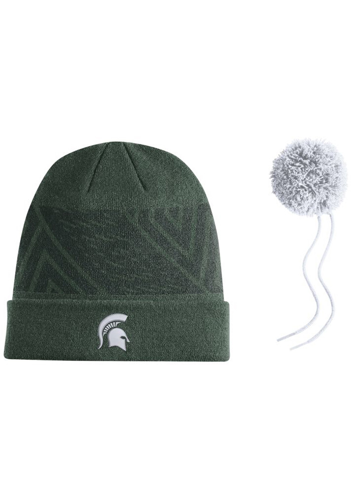 Nike Michigan State Spartans Green 2017 SIDELINE Mens Knit Hat - Image 2