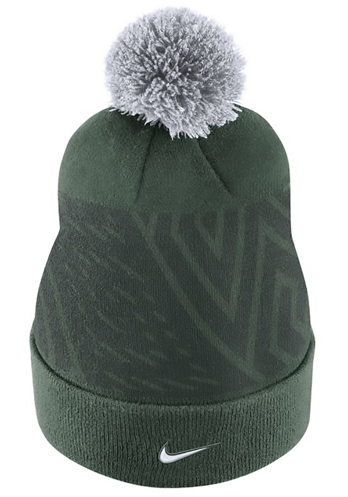 Nike Michigan State Spartans Green 2017 SIDELINE Mens Knit Hat - Image 3