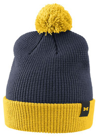 quality design a189d 2eab1 Nike Michigan Wolverines Navy Blue Waffle Knit Hat