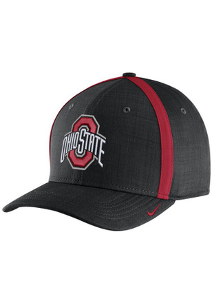 Nike Ohio State Buckeyes Mens Black 2017 SIDELINE Adjustable Hat