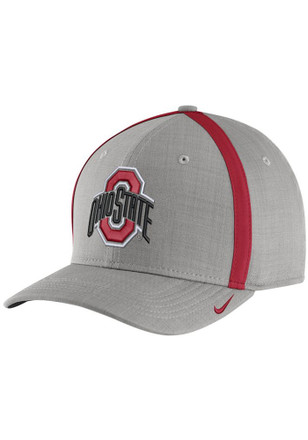Nike Ohio State Buckeyes Mens Grey 2017 SIDELINE Adjustable Hat