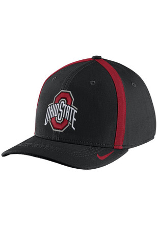 Nike Ohio State Buckeyes Mens Black 2017 SIDELINE Flex Hat
