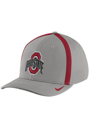 Nike Ohio State Buckeyes Mens Grey 2017 SIDELINE Flex Hat