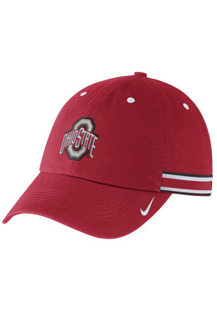 Nike Ohio State Buckeyes Red H86 WOVEN STRIPE Adjustable Hat