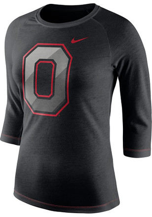 Nike Ohio State Buckeyes Womens Champ Drive Black T-Shirt