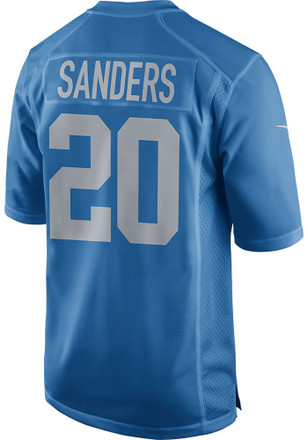 Barry Sanders Nike Detroit Lions Mens Blue 2017 Alternate Jersey