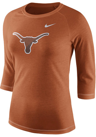 Nike Texas Longhorns Womens Champ Drive Orange T-Shirt
