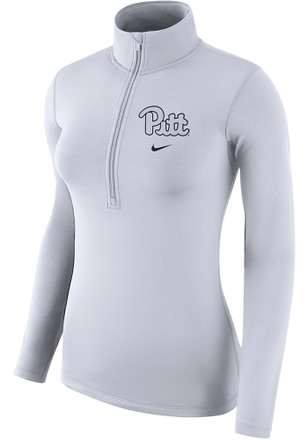 Nike Pitt Panthers Womens Top White 1/4 Zip Pullover