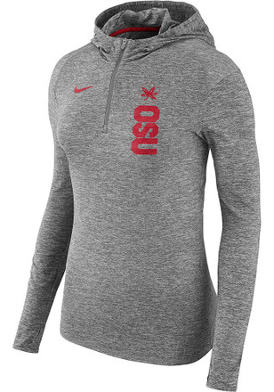 Nike Ohio State Buckeyes Womens Grey Element Hoodie