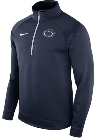 Nike Penn State Nittany Lions Mens Navy Blue Therma 1/4 Zip Pullover