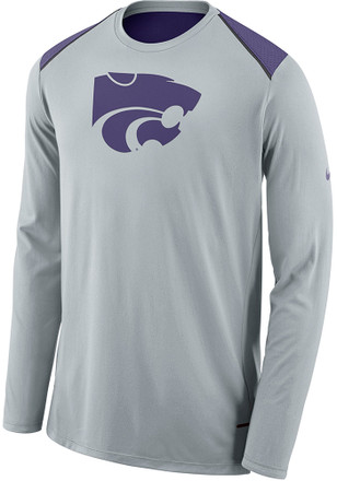 Nike K-State Wildcats Mens Grey Shooter Tee