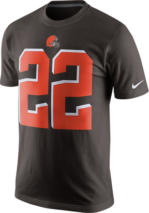 Jabrill Peppers Cleveland Browns Mens Brown Name and Number Player Tee