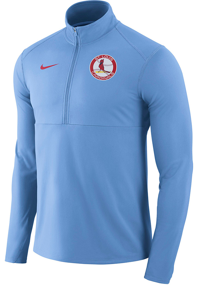 Nike St Louis Cardinals Mens Light Blue Element Long Sleeve 1/4 Zip Pullover - Image 1