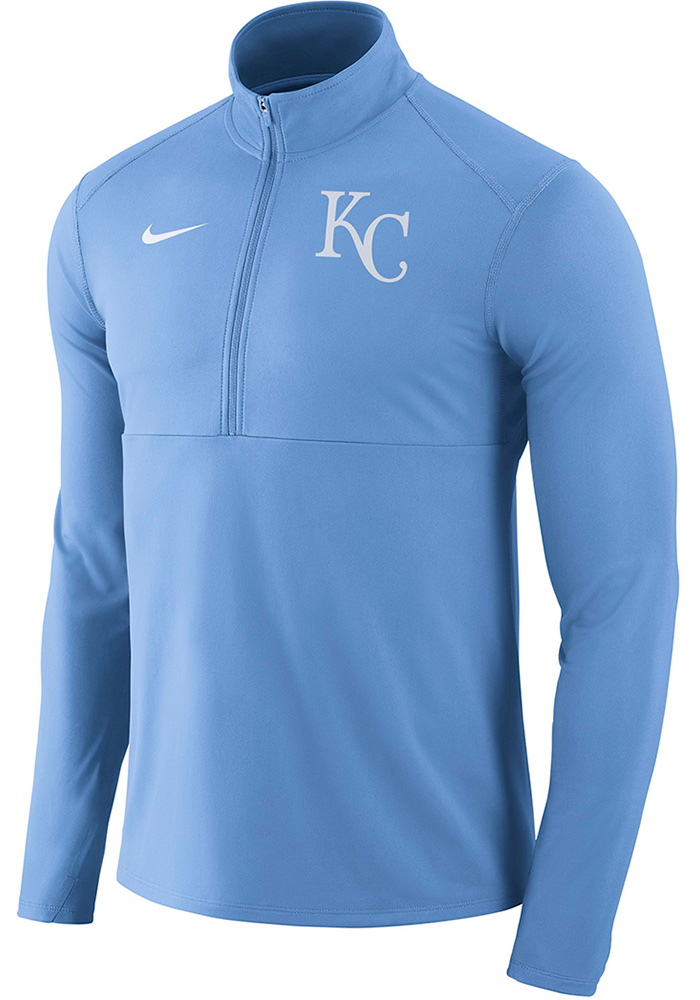 Nike Kansas City Royals Mens Light Blue Element 1/4 Zip Pullover