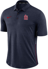 01add639 Nike St Louis Cardinals Navy Blue Breathe Polo Touch Short Sleeve Polo Shirt