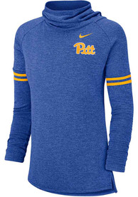 Pitt Panthers Womens Nike Funnel Crew Sweatshirt - Blue