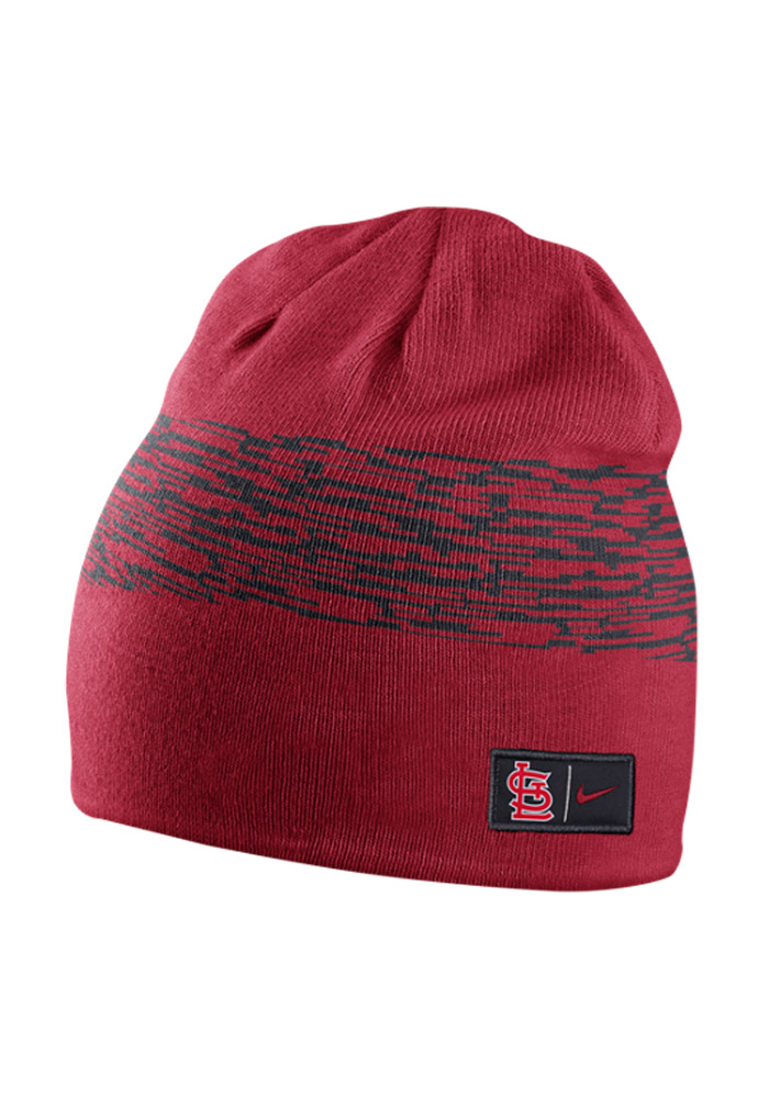 Nike St Louis Cardinals Navy Blue Reversible Local DNA Mens Knit Hat - Image 1