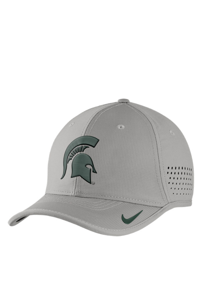Nike Michigan State Spartans Mens Grey Vapor Sideline Coaches Adjustable Hat - Image 1