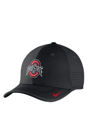 Nike Ohio State Buckeyes Mens Red Vapor Sideline Coaches Adjustable Hat