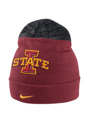 Nike Iowa State Cyclones Red Vapor Sideline Coaches Knit Hat