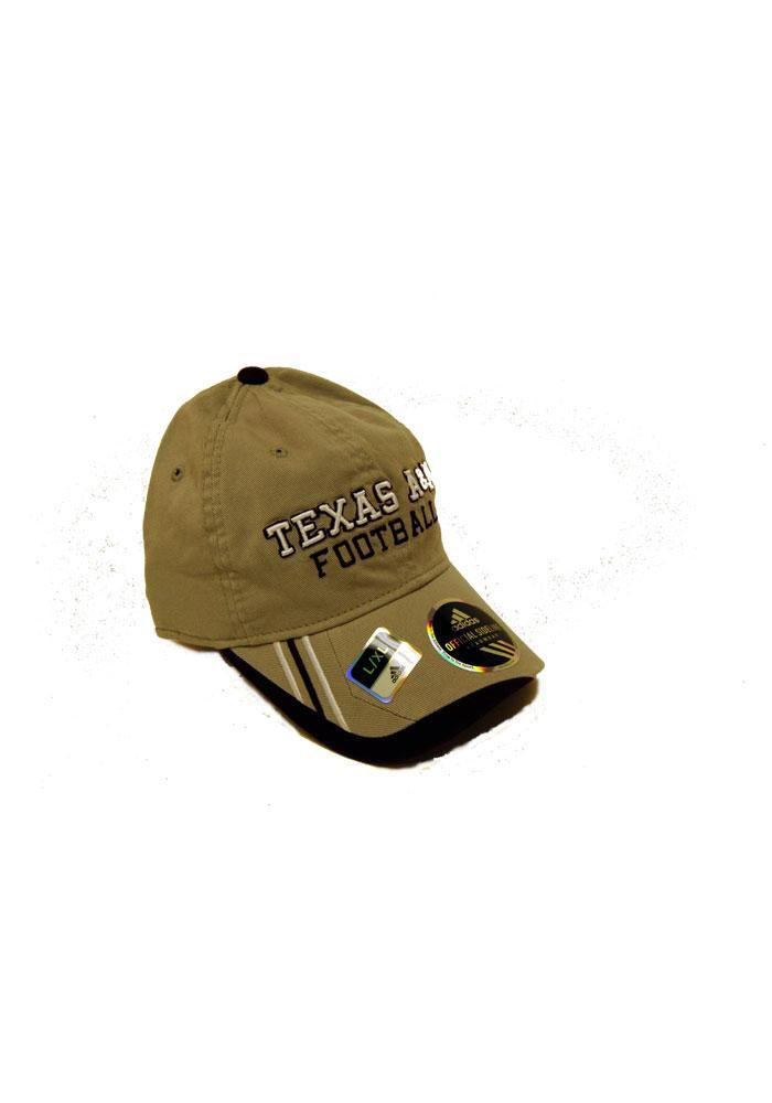 Adidas Texas A&M Aggies Mens Grey Player Mesh Flex Hat - Image 1