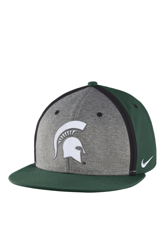 Nike Michigan State Spartans Green Sideline True Mens Snapback Hat - Image 1
