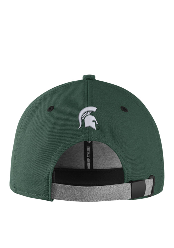 Nike Michigan State Spartans Green Sideline True Mens Snapback Hat - Image 2