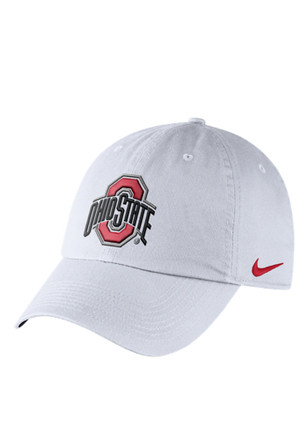 Nike Ohio State Buckeyes Mens White DF H86 Authentic Adjustable Hat