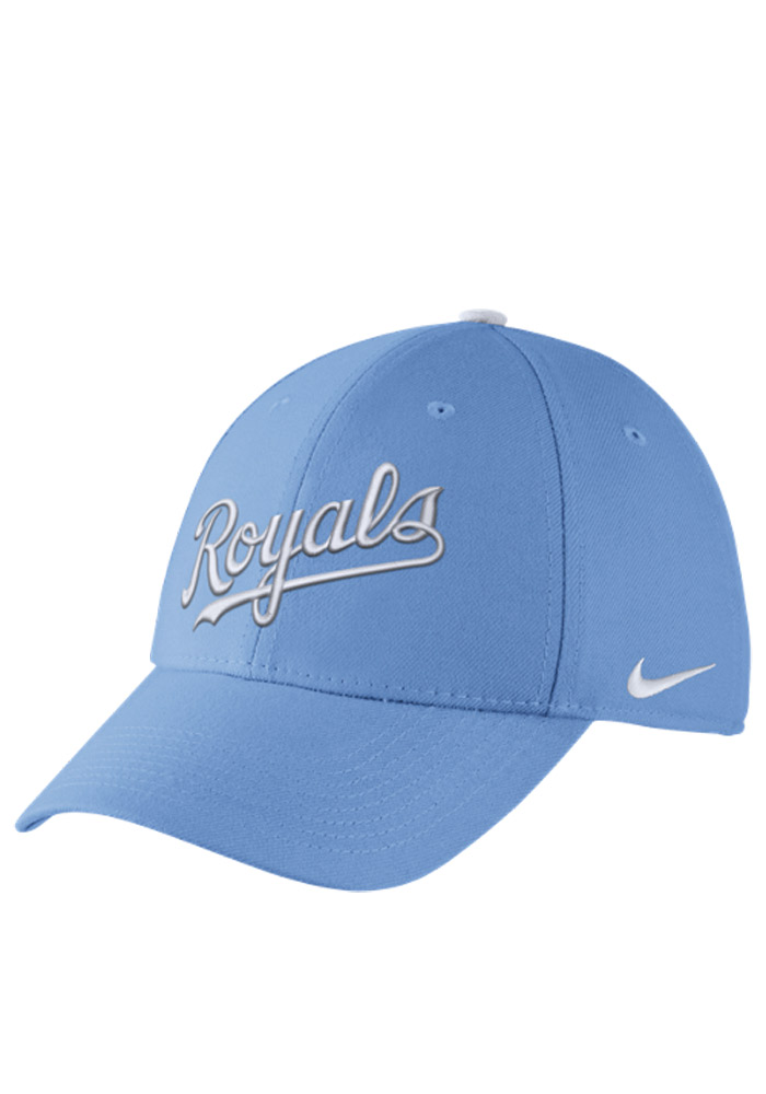 2071b4912b0 ... order nike kansas city royals mens light blue swoosh flex hat image 1  44719 1b3b4