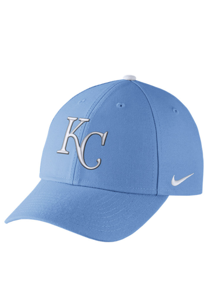 Nike Kansas City Royals Mens Light Blue Dri-Fit Wool Classic Adjustable Hat - Image 1
