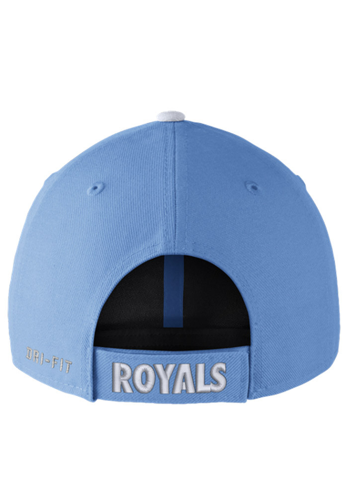 Nike Kansas City Royals Mens Light Blue Dri-Fit Wool Classic Adjustable Hat - Image 2