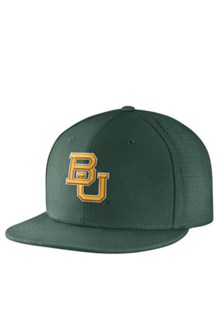 Baylor Bears Nike Mens Green Authentic Baseball Fitted Hat