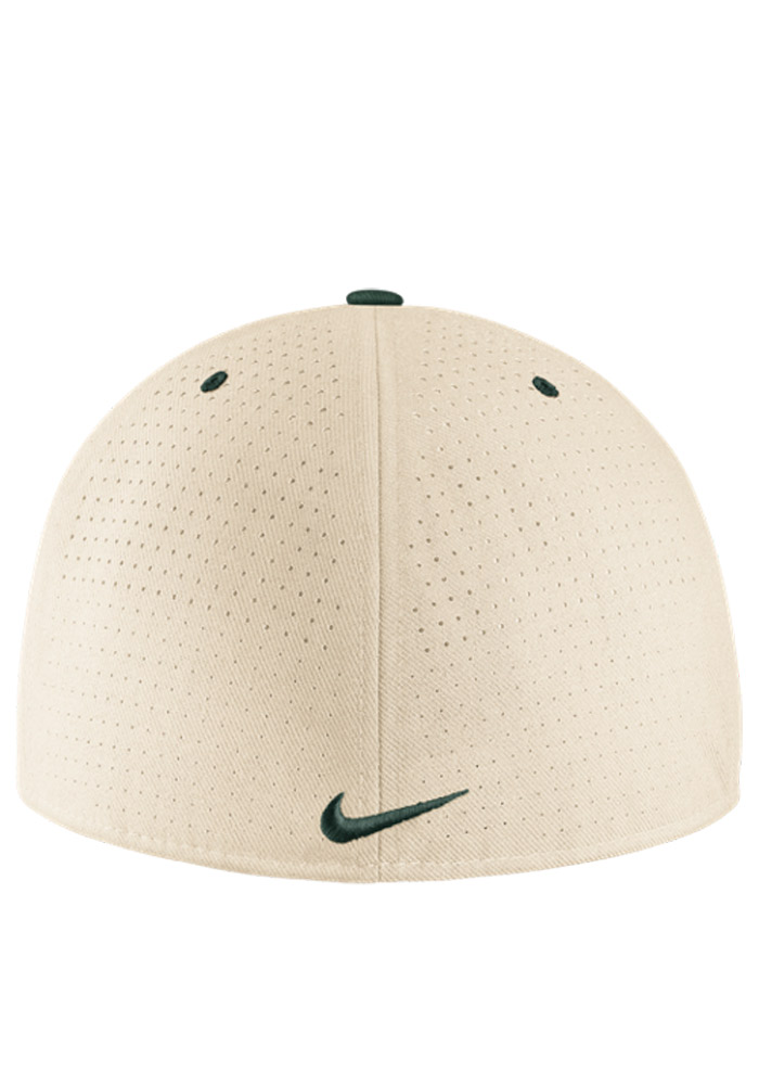 Nike Michigan State Spartans Mens Brown Authentic Baseball Fitted Hat - Image 2