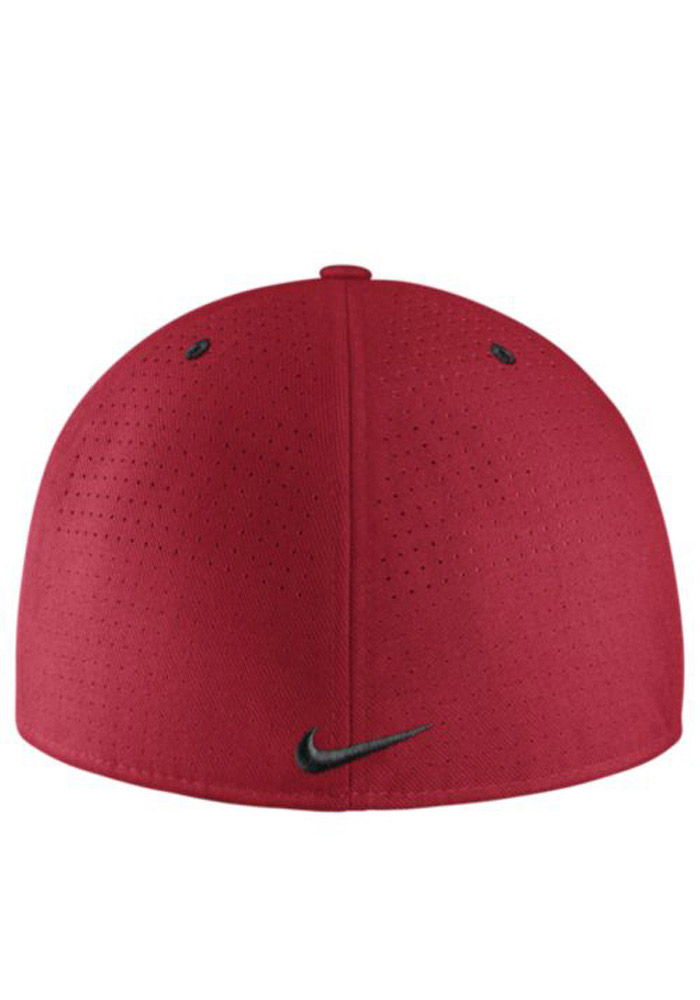 Nike Ohio State Buckeyes Mens Red Authentic Baseball Fitted Hat 12519771