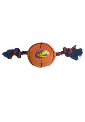 Kansas Jayhawks Plush Basketball Pet Toy