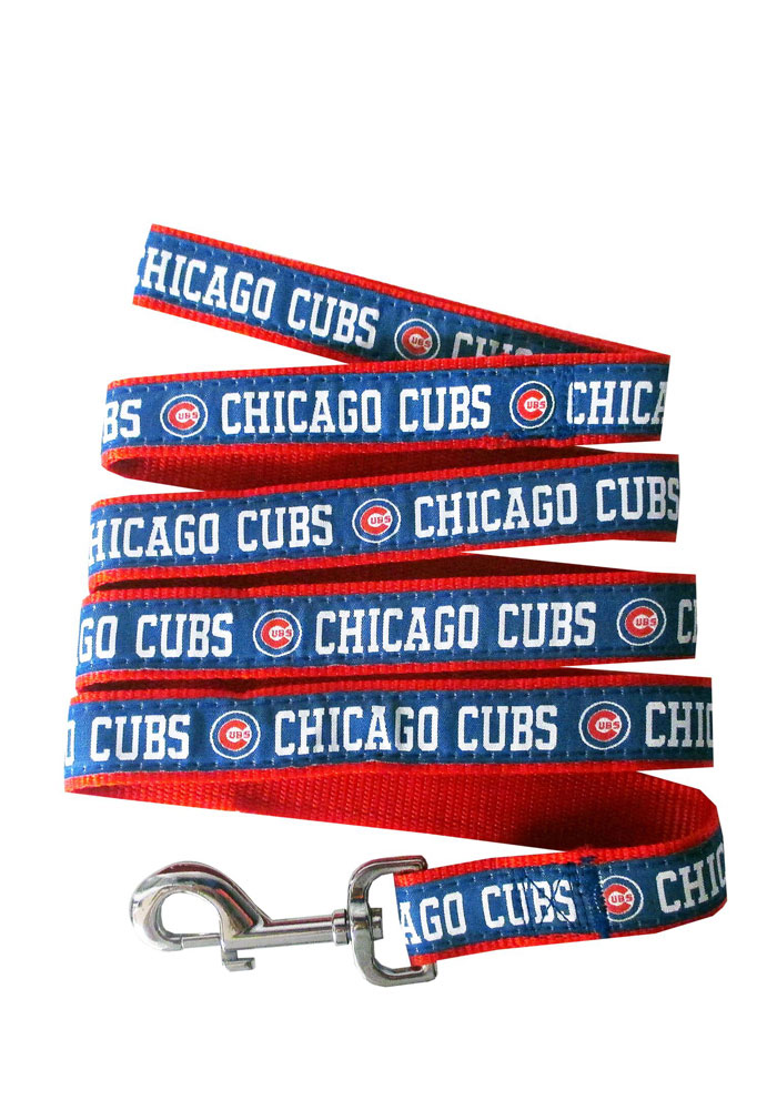 Chicago Cubs Nylon Web Pet Leash - Image 1