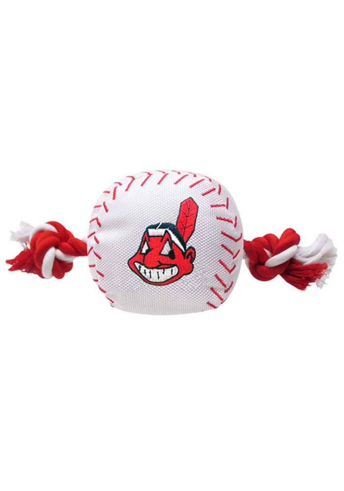 Cleveland Indians Baseball Rope Pet Toy - Image 1