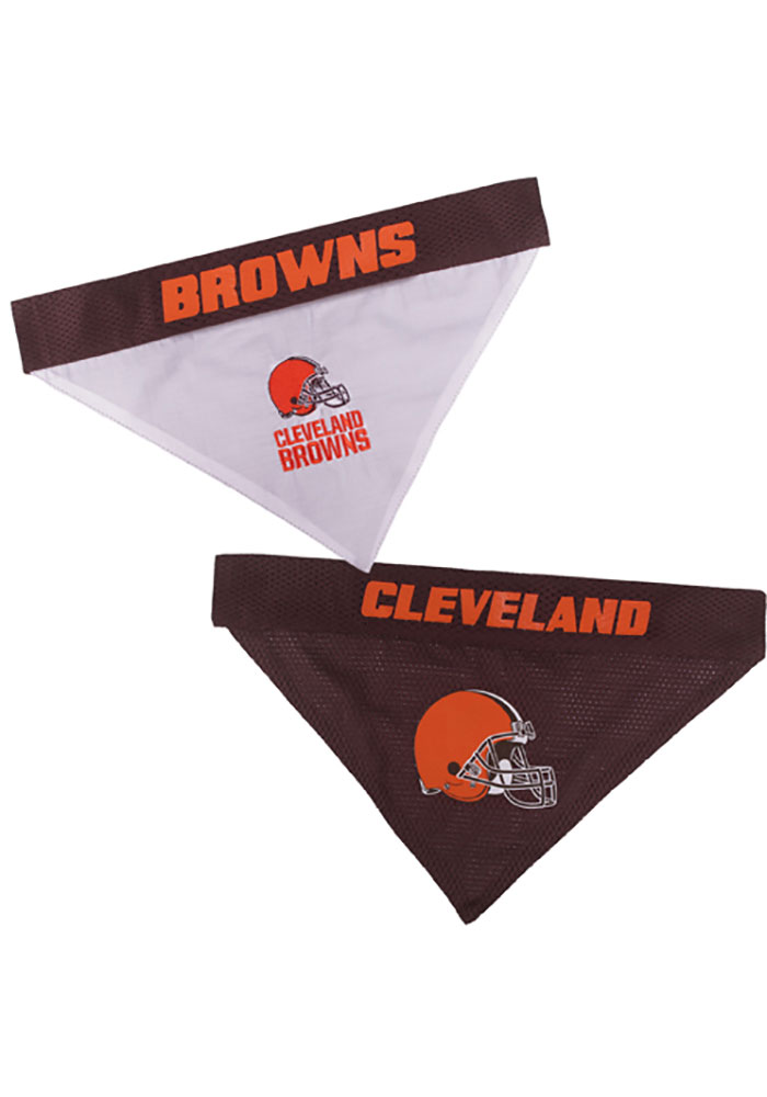 Cleveland Browns Home and Away Reversible Pet Bandana - Image 1