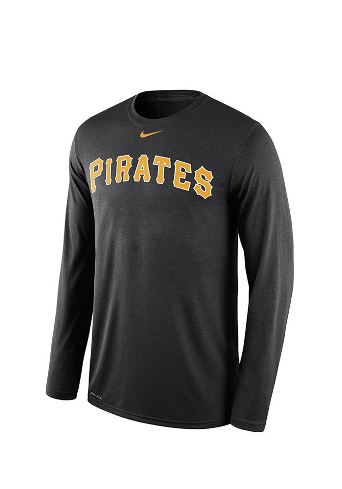 Nike Pittsburgh Pirates Black Legend Wordmark Long Sleeve T-Shirt - Image 1